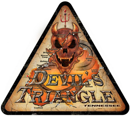 Devil's Triangle Metal Sign 15 x 16 Inches