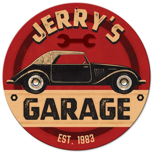 Garage Metal Sign - Personalized 14 x 14 Inches