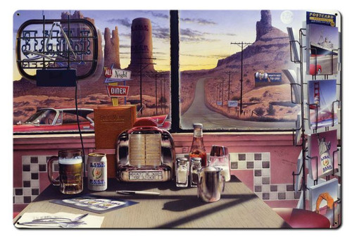 All Night Diner Metal Sign 36 x 24 Inches