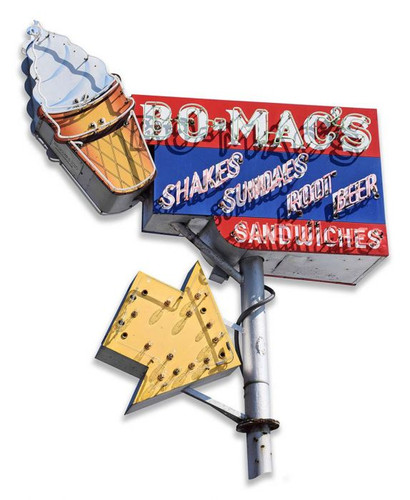 Bo Mac's Cut-Out Metal Sign 12 x 15 Inches