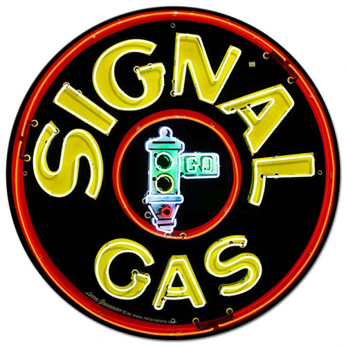 Signal Gas Metal Sign 28 x 28 inches