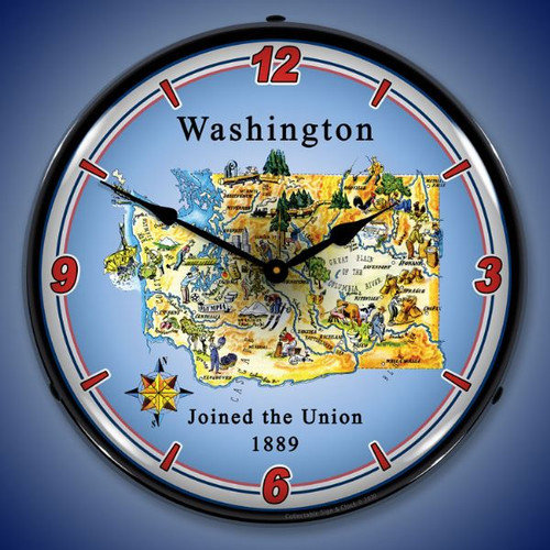 State of Virginia LED Lighted Wall Clock 14 x 14 Inches