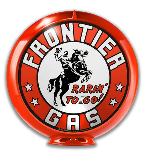 Frontier Gas Globe Metal Sign 14 x 14 inches