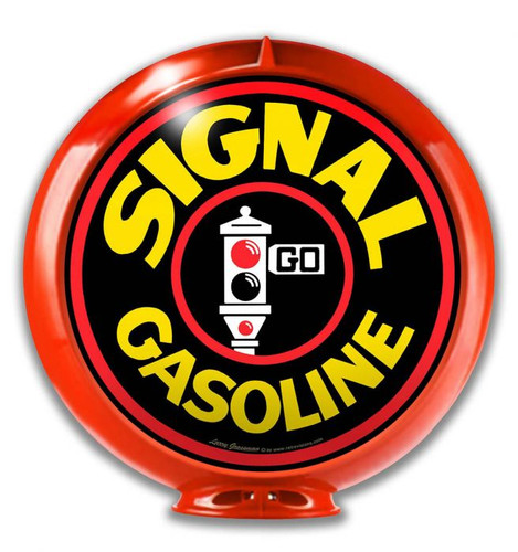 Signal Gas Globe Metal Sign 14 x 14 inches
