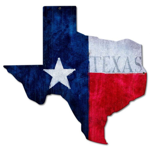 Texas State Flag Metal Sign 24 x 24 Inches