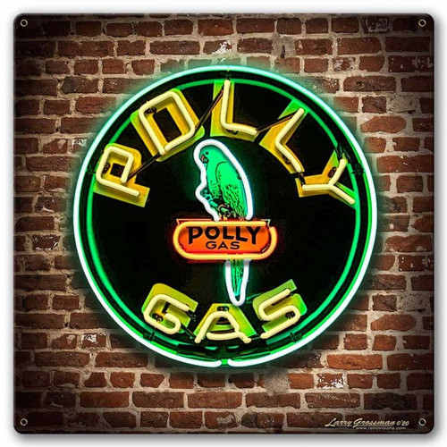 Polly Gas Sign Metal Sign 18 x 18 Inches