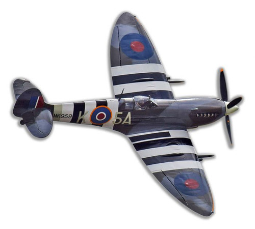 Spitfire Mk IX Cut-out Metal Sign 24 x 22 Inches
