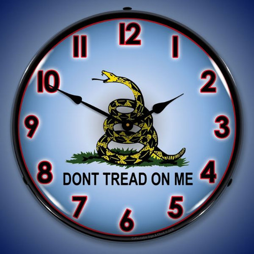 Don't Tread On Me v2 LED Lighted Wall Clock 14 x 14 Inches