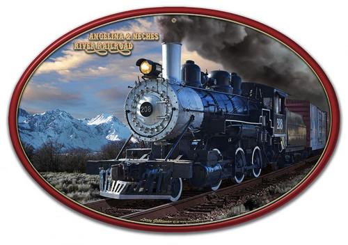 A&NR Train Metal Sign 22 x 15 Inches