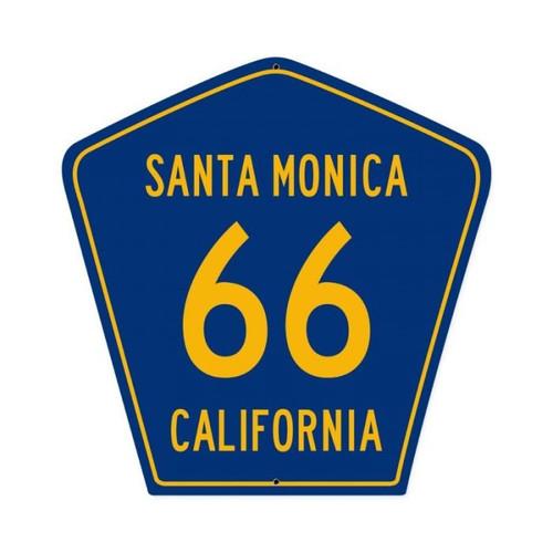 Santa Monica 66 Metal Sign 15 x 15 Inches