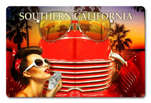 Southern California Lifestyle Metal Sign 18 x 12 Inches