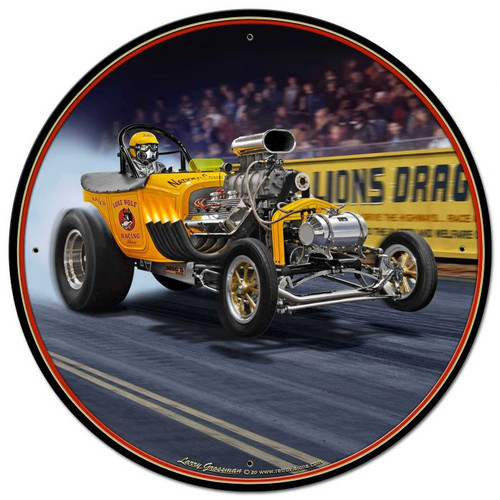 1923 T-Bucket Fuel Altered Metal Sign 28 x 28 inches