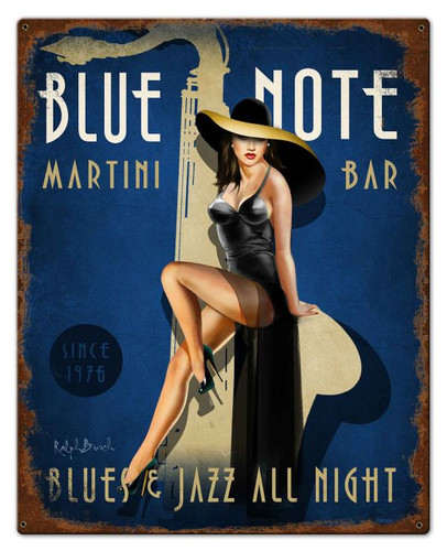 Blue Note Jazz Club Vintage Metal Sign 24 x 30 Inches