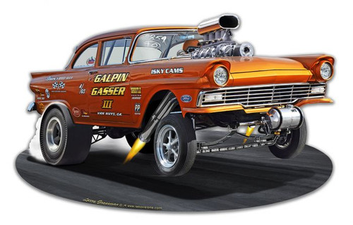 1957 Ford Gasser Metal Sign 18 x 11 Inches