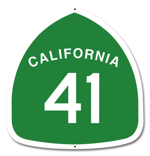 California Highway 41 Metal Sign 16 x 16 Inches