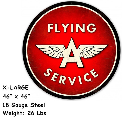 Flying A Service XL 18 Gauge Metal Sign 46 x 46 Inches