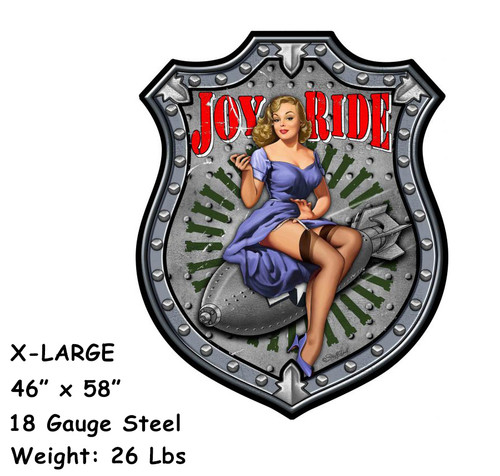 Joy Ride XL 18 Gauge Metal Sign 46 x 58 Inches