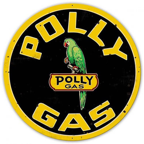 Polly Gas UV DOUBLE SIDED Powdercoat Metal Sign 42 x 42 Inches