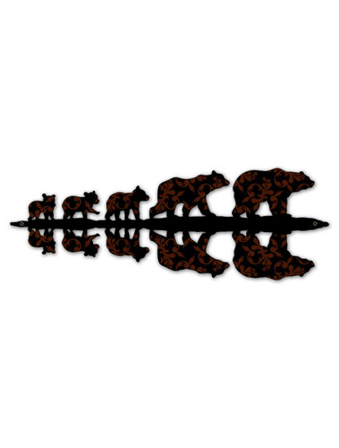5 Bears Metal Sign 24 x 9 Inches