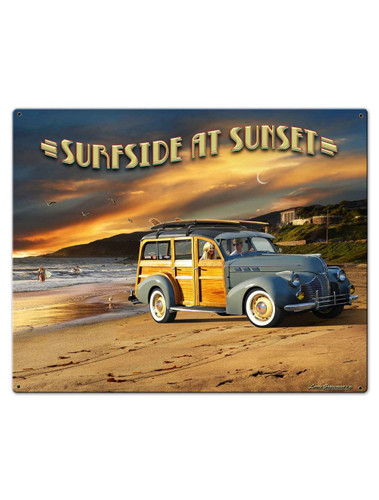 Surfside At Sunset Metal Sign 30 x 24 Inches