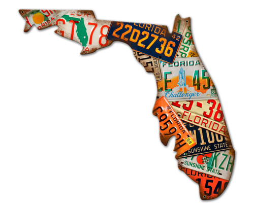 Florida License Plates Metal Sign 30 x 23 Inches