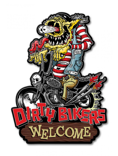 Dirty Bikers Metal Sign 12 x 16 Inches