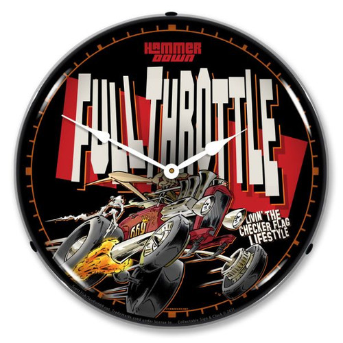 Full Throttle LED Lighted Wall Clock 14 x 14 Inches