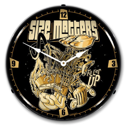 Size Matters Windows Lighted Wall Clock 14 x 14 Inches