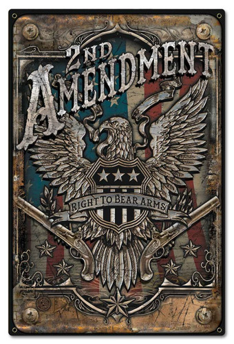 2nd Amendment Metal Sign 16 x 24 Inches