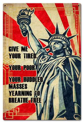 Statue Of Liberty Metal Sign 12 x 18 Inches