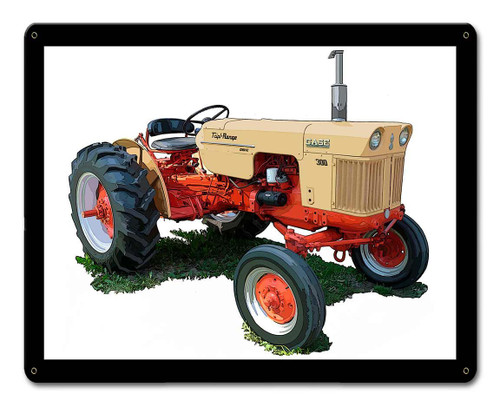 Case Model 100 Tractor Metal Sign 15 x 12 Inches