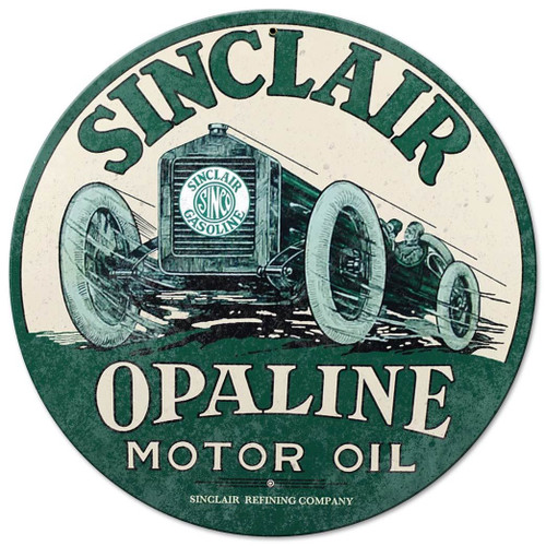 Sinclair Opaline Metal Sign 14 x 14 Inches
