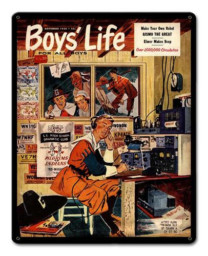 Boys Live Ham Radio 1956 Metal Sign 12 x 15 Inches