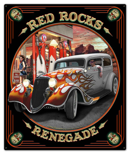 Red Rocks Renegade Metal Sign 30 x 36 Inches