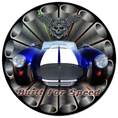 Built For Speed Sign 14 x 14 Inches