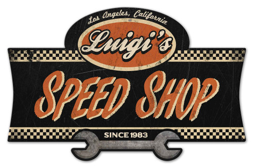 Speed Shopl X-LARGE Metal Sign - Personalized 46 x 30 Inches