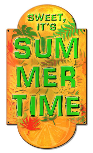 Sweet It's Summer Metal Sign 10 x 17 Inches
