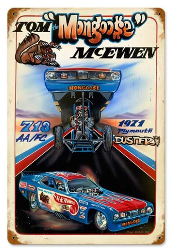 Retro Mongoose Hot Wheels Metal Sign 18 x 12 Inches