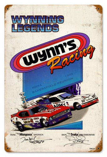Wynning Racing Metal Sign 18 x 12 Inches