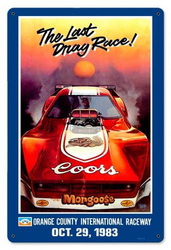 Retro Mongoose Orange County Metal Sign 18 x 12 Inches