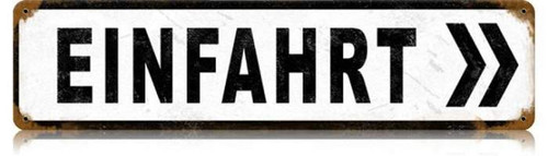 Retro Einfahrt Metal Sign 20 x 5 inches