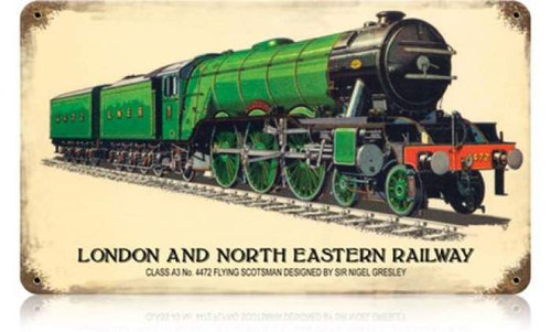 Retro London and North Eastern Railway Metal Sign 14 x 8 Inches