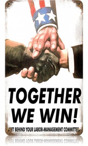 Vintage Together We Win Metal Sign 8 x 14 Inches