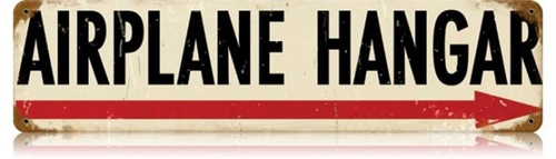 Retro Airplane Hangar Metal Sign 20 x 5 inches