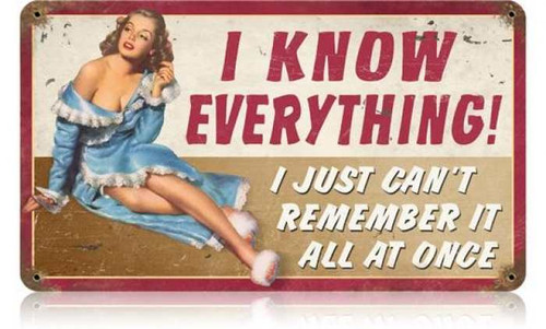 Retro Remember Metal Sign 14 x 8 Inches