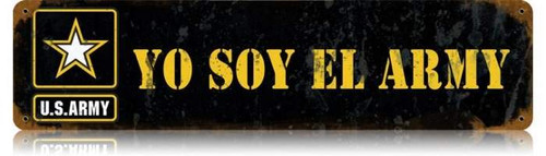 Yo Soy Metal Sign 20 x 5 inches
