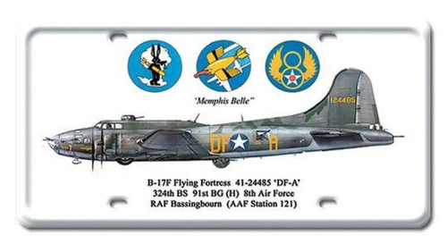 Vintage B-17 Flying Fortress License Plate 6 x 12 Inches