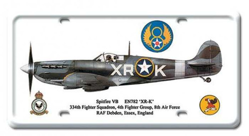 Vintage Spitfire VB License Plate 6 x 12 Inches