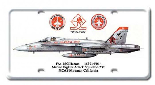 Vintage FA-18C Hornet License Plate 6 x 12 Inches