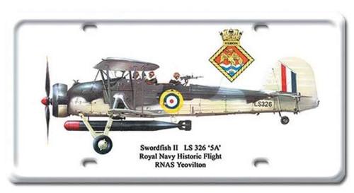 Vintage Swordfish II License Plate 6 x 12 Inches